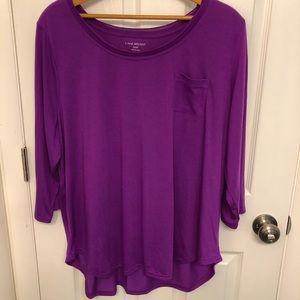 🆕 Lane Bryant Purple Long Sleeve Shirt Size 2X